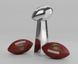 Superbowl – voetbalballen en beker