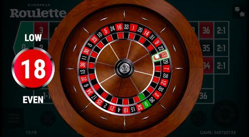 Roulette Stap 3: Uitslag van de gespeelde ronde